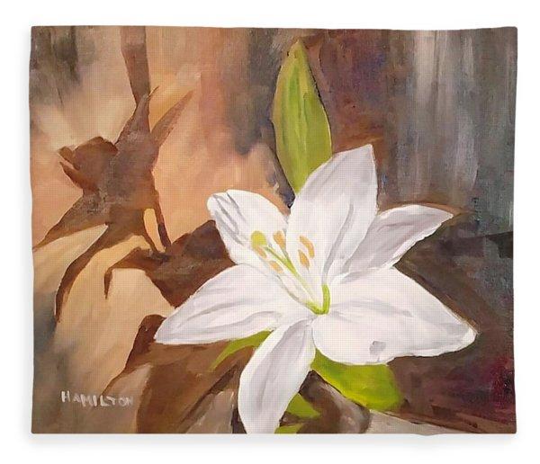 Floral-still Life Fleece Blanket