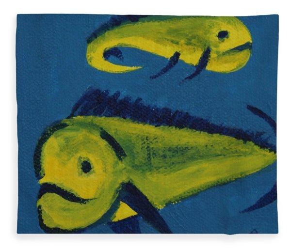 Florida Fish Fleece Blanket