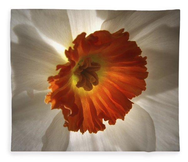 Flower Narcissus Fleece Blanket