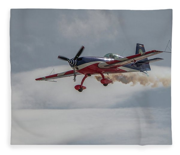 Flying Acrobatic Plane Fleece Blanket