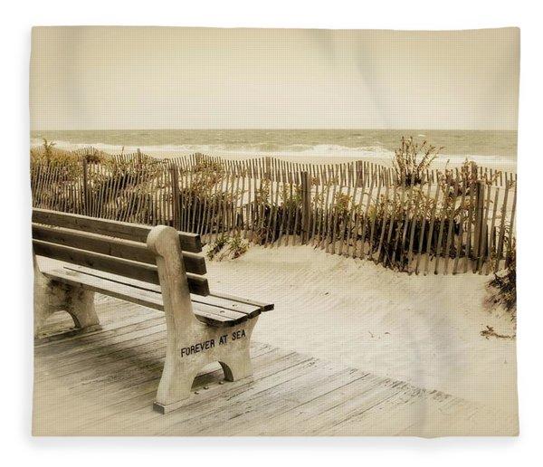 Forever At Sea - Jersey Shore Fleece Blanket