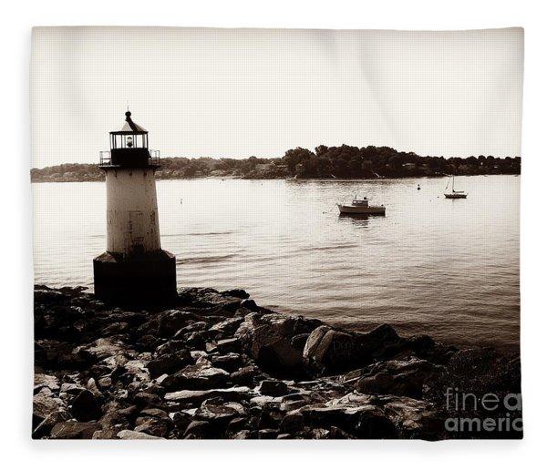 Fort Pickering Lighthouse, Winter Island, Salem, Massachusetts Fleece Blanket