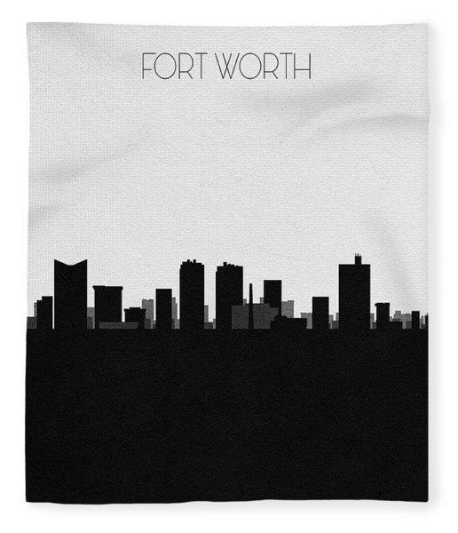 Fort Worth Cityscape Art Fleece Blanket