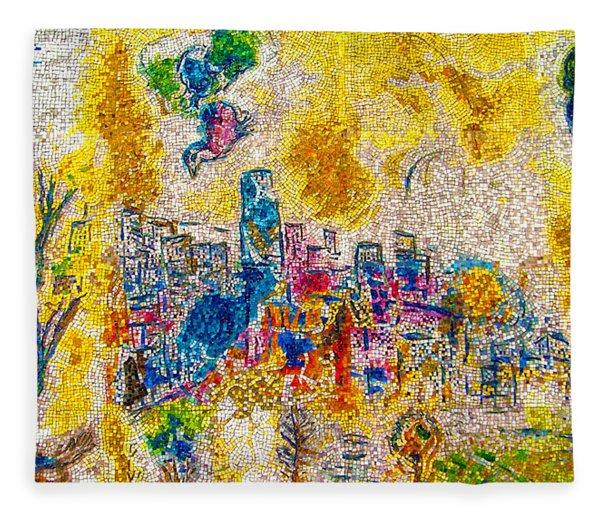Four Seasons Chagall Fleece Blanket