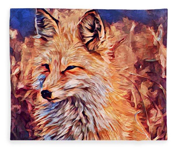 Fox 2 Fleece Blanket
