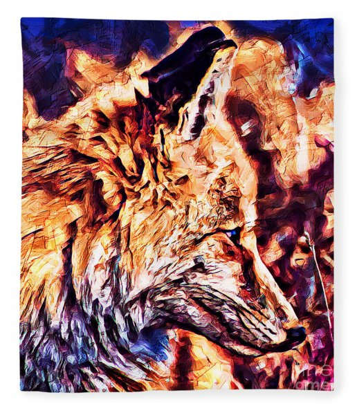 Fox 3 Fleece Blanket