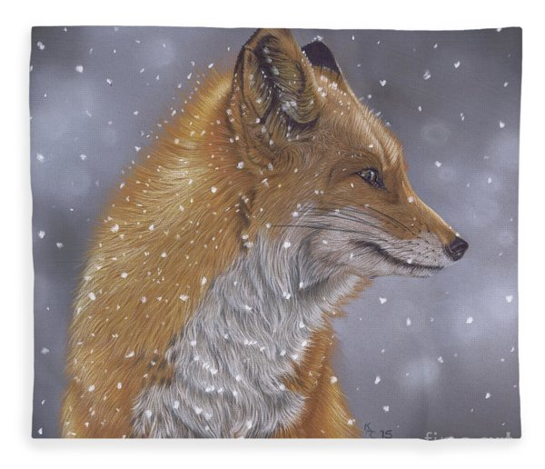 Fox In A Flurry Fleece Blanket