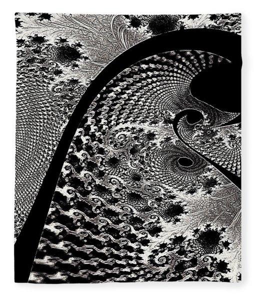 Fleece Blanket featuring the digital art Fractal Japonica by Susan Maxwell Schmidt