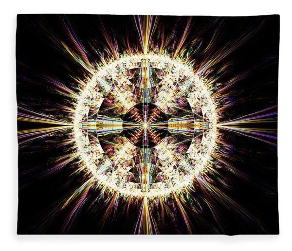 Fleece Blanket featuring the digital art Fractal Jewel by Bee-Bee Deigner