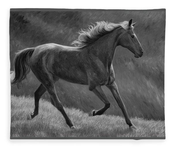 Free - Black And White Fleece Blanket