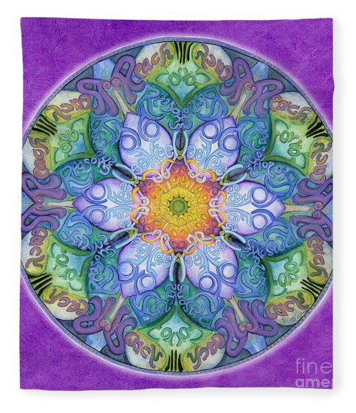 Freedom Mandala Fleece Blanket