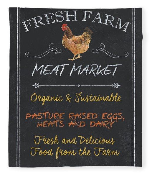 Fresh Farm Meat Fleece Blanket