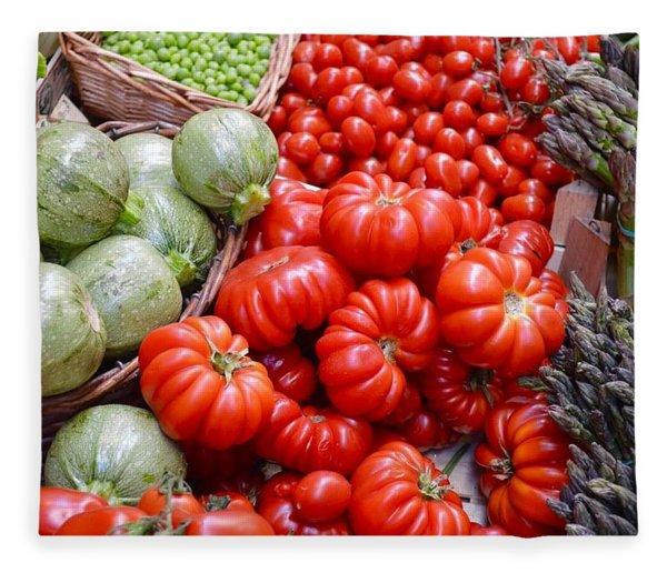 Fresh Vegetables Fleece Blanket