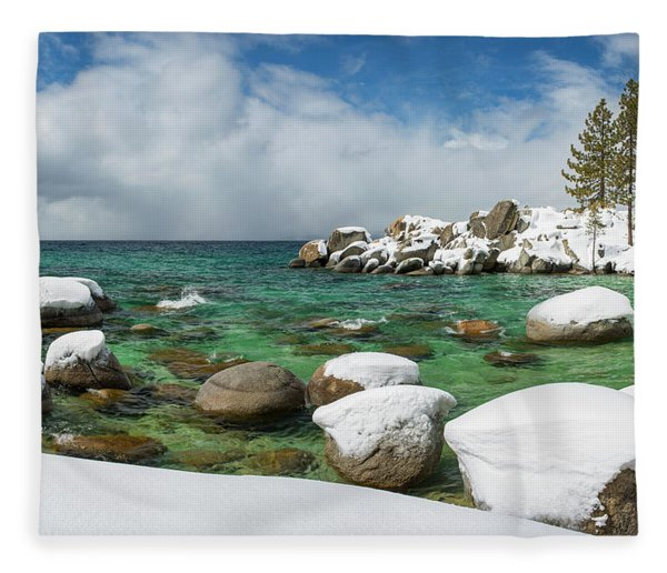 Frozen Aquas By Brad Scott Fleece Blanket