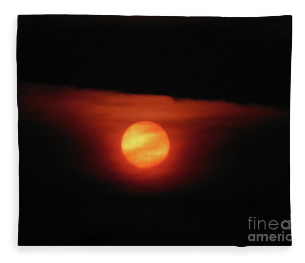 Full Harvest Moon Fleece Blanket