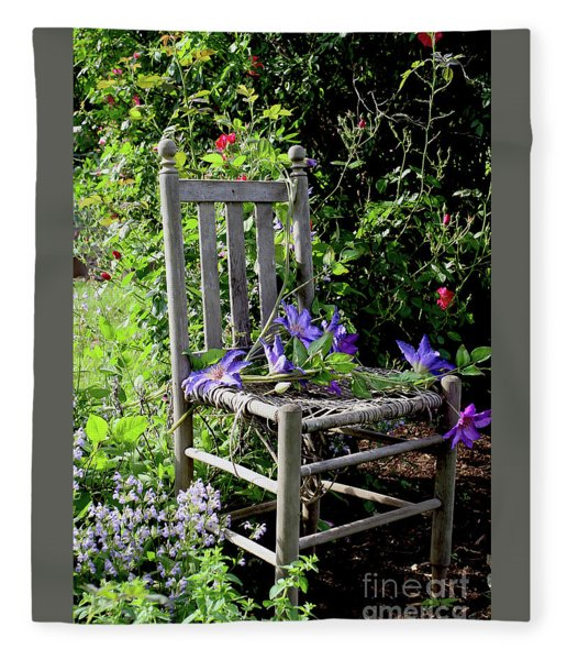 Garden Chair Fleece Blanket
