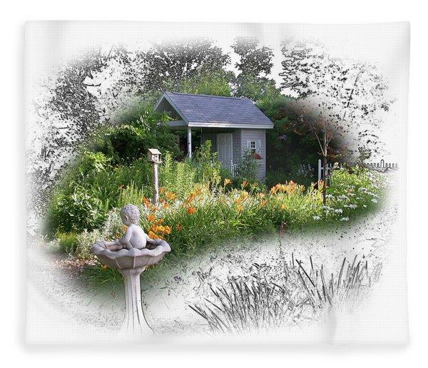 Garden House Fleece Blanket