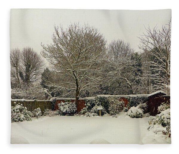 Garden Snow Fleece Blanket
