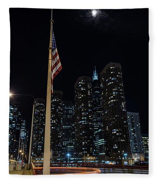 Gate To The West Loop Chicago Fleece Blanket