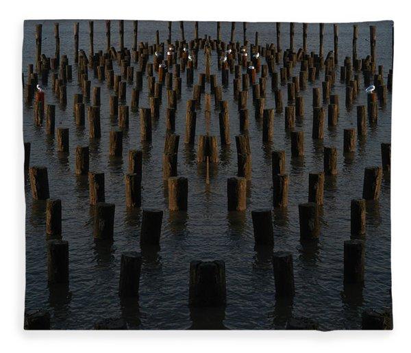 Gathering On The Hudson Fleece Blanket