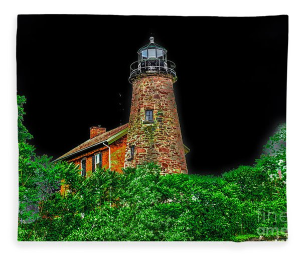 Genesee Lighthouse Fleece Blanket