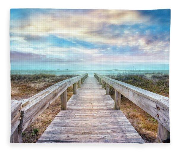 Gentle Morning Walk Fleece Blanket