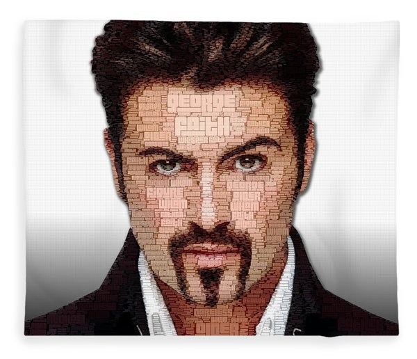 Fleece Blanket featuring the digital art George Michael Tribute by ISAW Company