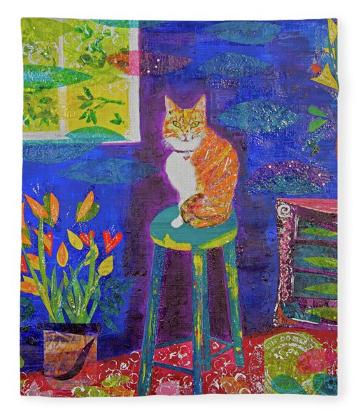 Ginger The Cat Fleece Blanket