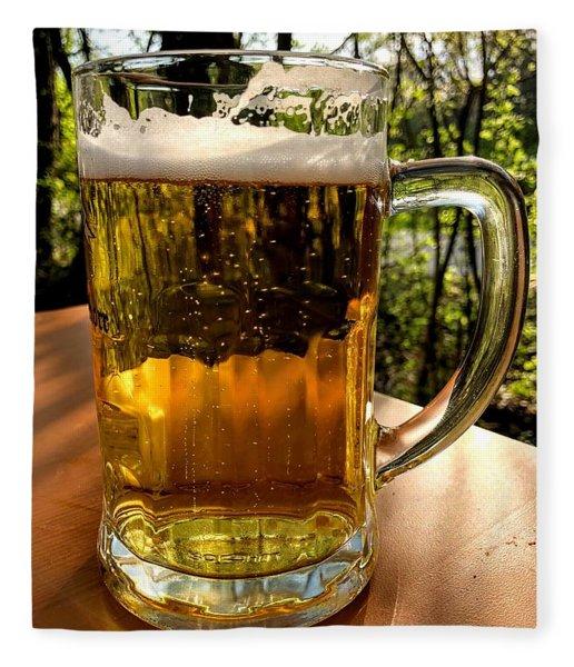 Glass Of Beer Fleece Blanket
