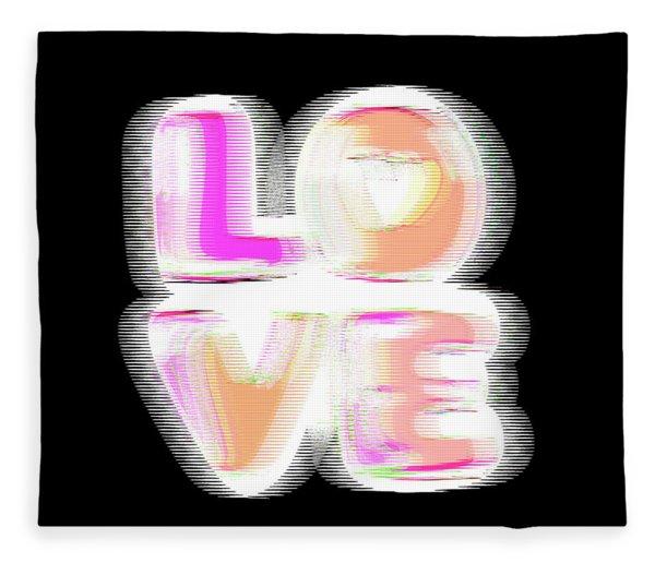 Fleece Blanket featuring the digital art Glitch In Black by Bee-Bee Deigner