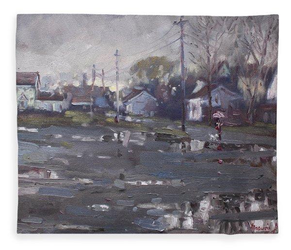 Gloomy And Rainy Day By Hyde Park Fleece Blanket