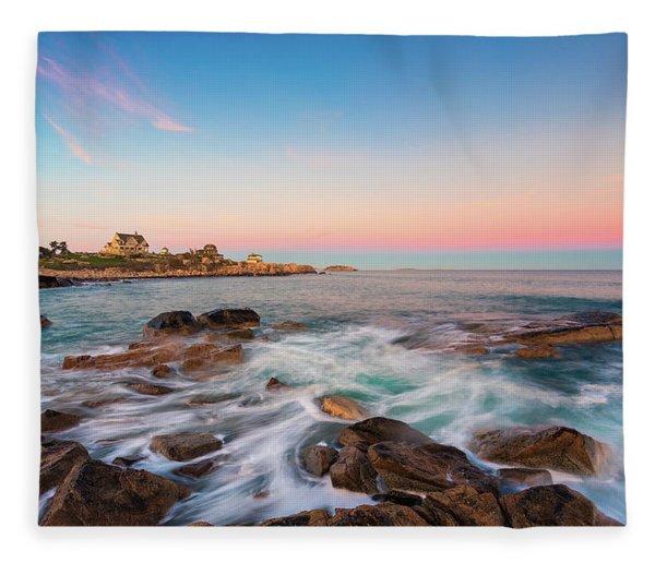 Gloucester Sunset 1 Fleece Blanket