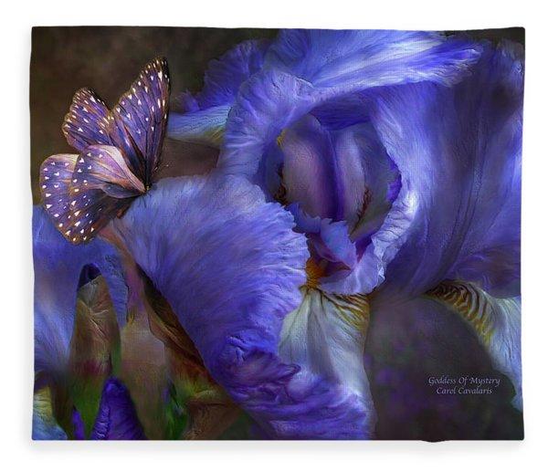 Goddess Of Mystery Fleece Blanket