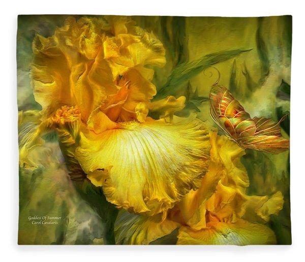 Goddess Of Summer Fleece Blanket