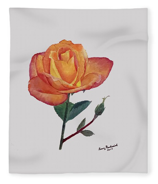 Gold Medal Rose Fleece Blanket