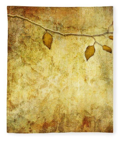 Golden Branch Of Hope  Fleece Blanket