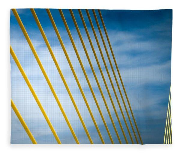 Golden Glow Of Tampa Fleece Blanket