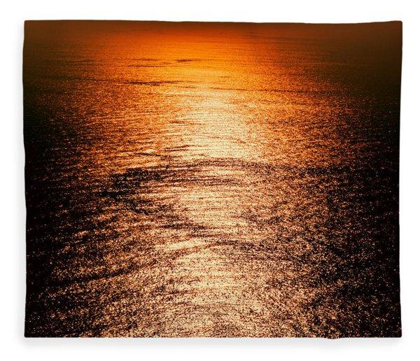 Golden Sea In Alanya Fleece Blanket