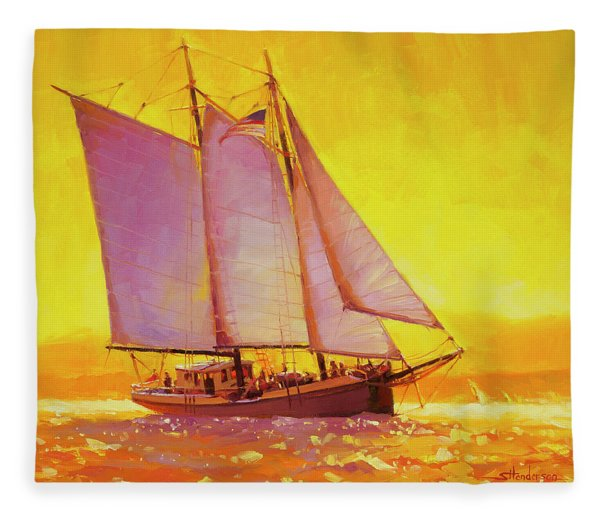Golden Sea Fleece Blanket