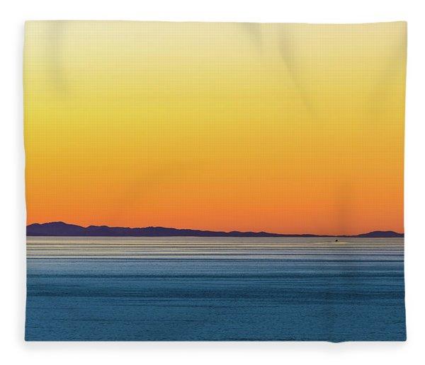 Golden Sunset Series I Fleece Blanket