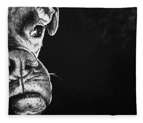 Good Dog Fleece Blanket