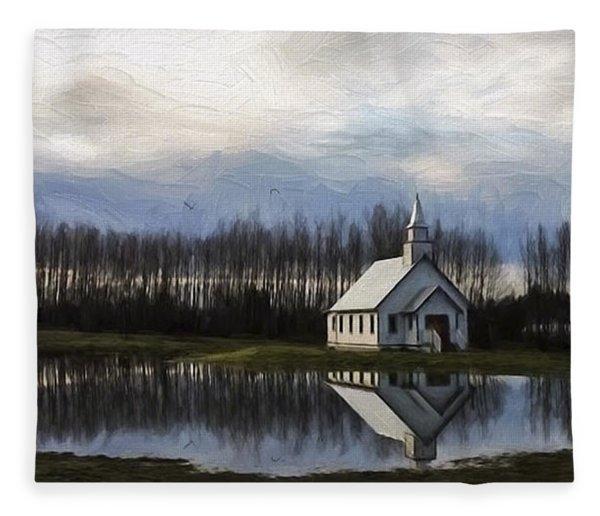 Good Morning - Hope Valley Art Fleece Blanket