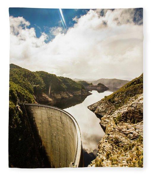 Gordon Dam Tasmania  Fleece Blanket