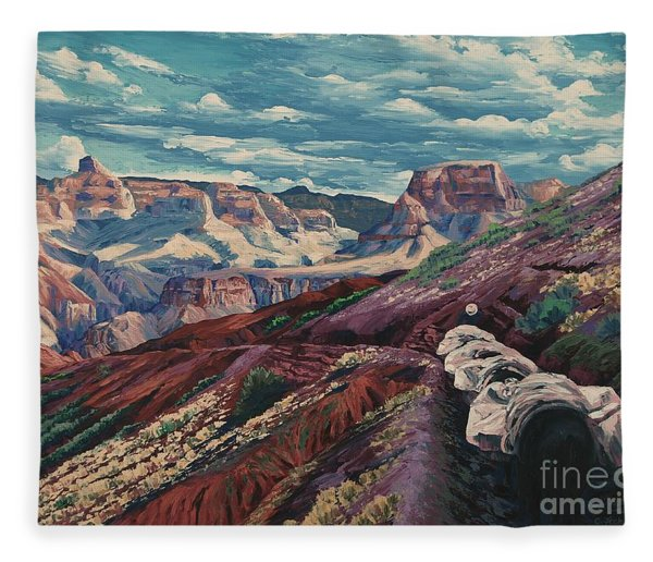 Grand Canyon Mule Skinners Fleece Blanket