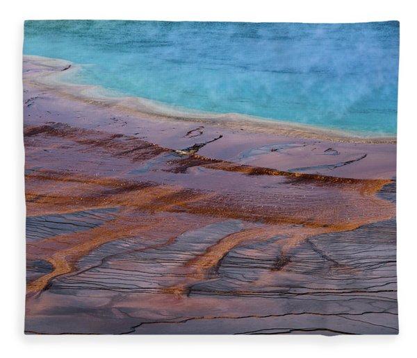 Grand Prismatic Spring Detail Fleece Blanket