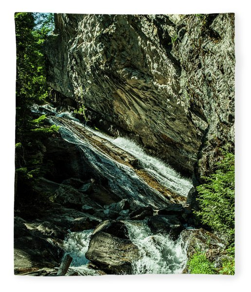 Granite Falls Of Ancient Cedars Fleece Blanket