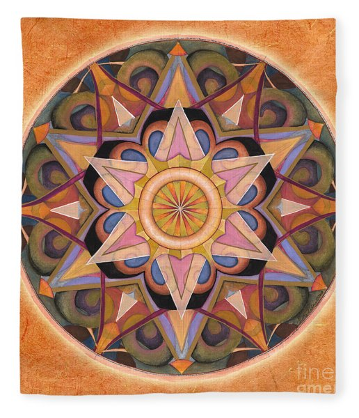 Gratitude Mandala Fleece Blanket