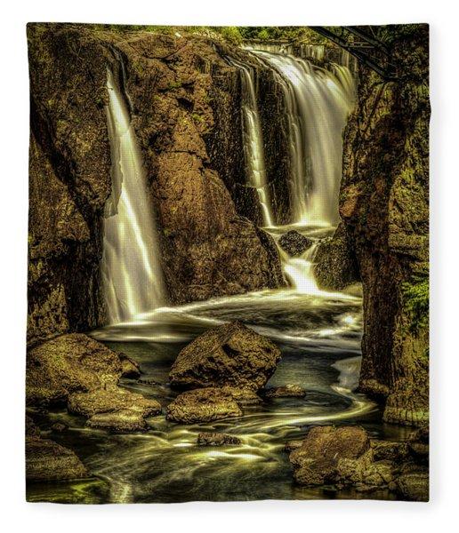 Great Falls Close Up Fleece Blanket