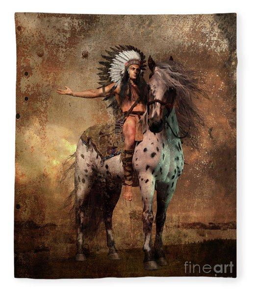 Great Spirit Chief Fleece Blanket