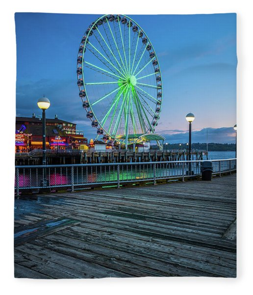 Great Wheel And Boardwalk Fleece Blanket